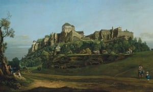The Fortress of Königstein from the North by Bernardo Bellotto.