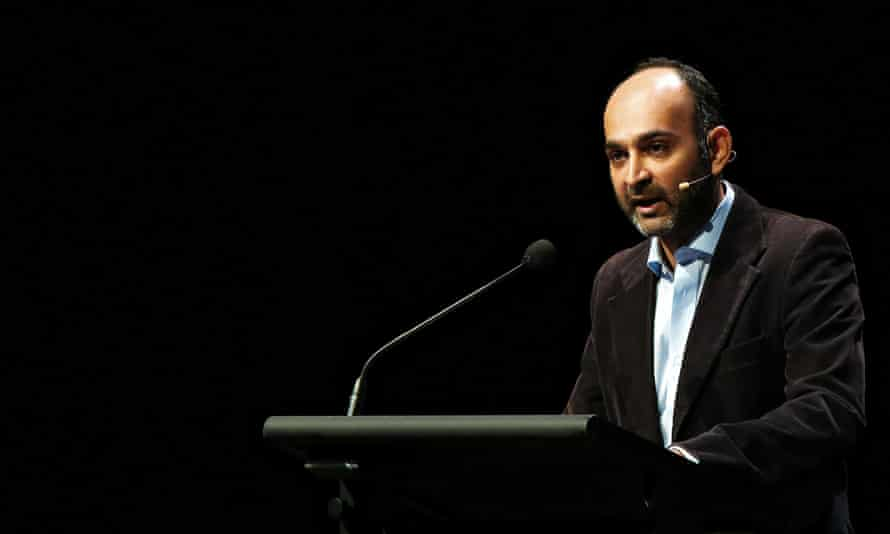 Author Mohsin Hamid speaking at the Sydney writers festival 2015.