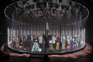 Models wear creations as part of Gucci's autumn/winter 2020/2021 collection during Milan fashion week.