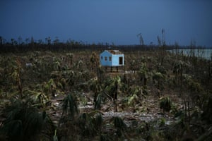 A house destroyed by Hurricane Dorian in Great Abaco, the Bahamas