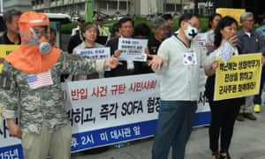 South Korea anthrax protest