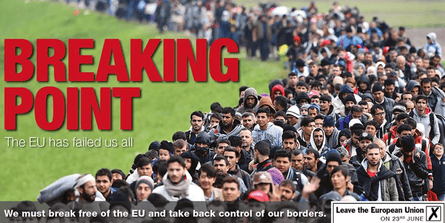 The Breaking Point poster ... even Boris Johnson was 'profoundly unhappy with it'.