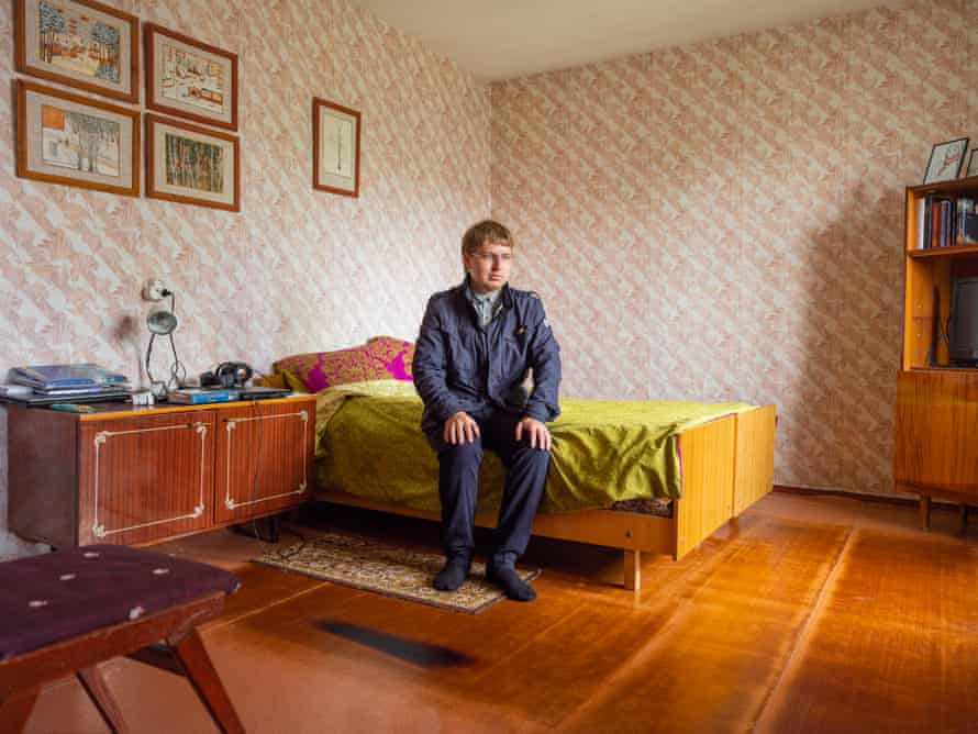My guide, Vitali Poyarkov, allowed me into the Chernobyl home he shares with his mother.