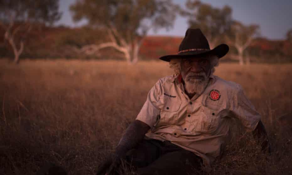 Martu elder Nyarri Nyarri Morgan in the Pilbara desert of Western Australia.