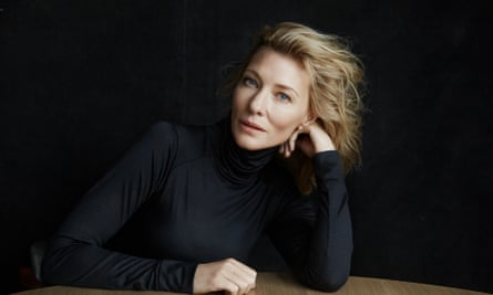 Cate Blanchett, about to open in When We Have Sufficiently Tortured Each Other.