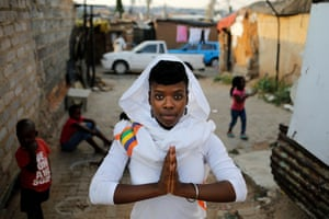 Alexandra township resident and yoga teacher, Dipuo Smith