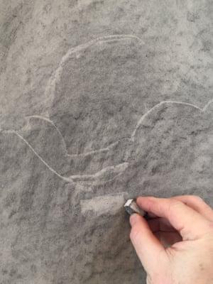 Sharp edge of eraser