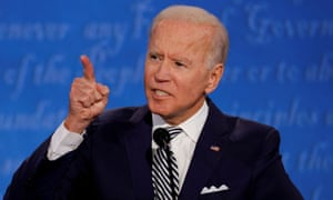 Joe Biden during the first 2020 presidential debate with Donald Trump, in Cleveland.