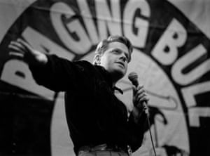 Eddie Izzard performs at his Raging Bull comedy night at the Boulevard theatre
