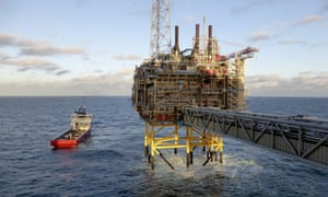 Statoil gas processing and CO2 removal offshore platform near Stavanger, Norway