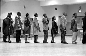 Washington, D.C. 1963. African-Americans vote for the first time.From 1963 to 1965, he captured the plight of African Americans; the great struggle for racial equality within a deeply segregated, racist society.