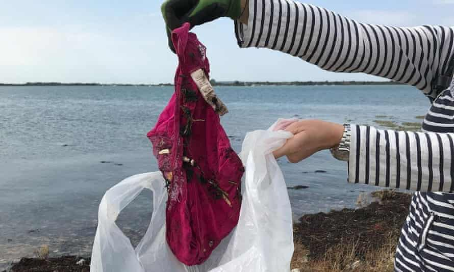 Pink underwear found by Tim Peake during a Marine Conservation Society litter pick in September