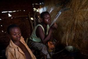 Everine Nduimana, 25, and her brother, Vianney Nyeyahunze, 11, refugees from Burundi