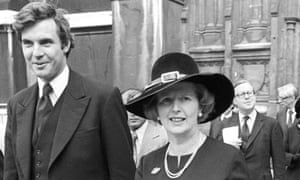 Jonathan Aitken with Margaret Thatcher at Westminster Abbey