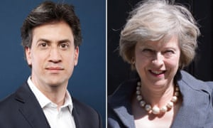 Ed Miliband and Theresa May composite
