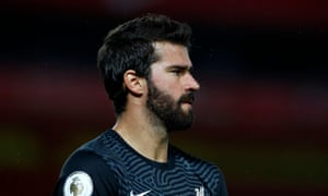 Liverpool goalkeeper Alisson is on the mend.