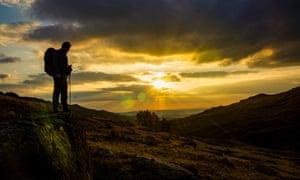 Mindful walking in Snowdonia.