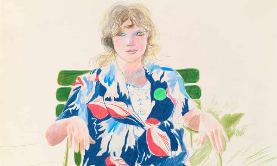 Detail from Celia, Carennac, August 1971 by David Hockney