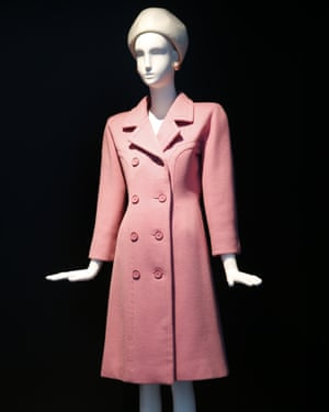 A pink wool coat designed by Givenchy for Jackie Kennedy.