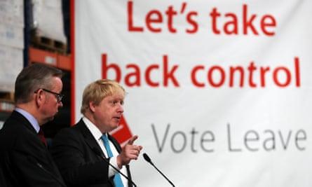 Boris Johnson and Michael Gove on the Leave campaign trail