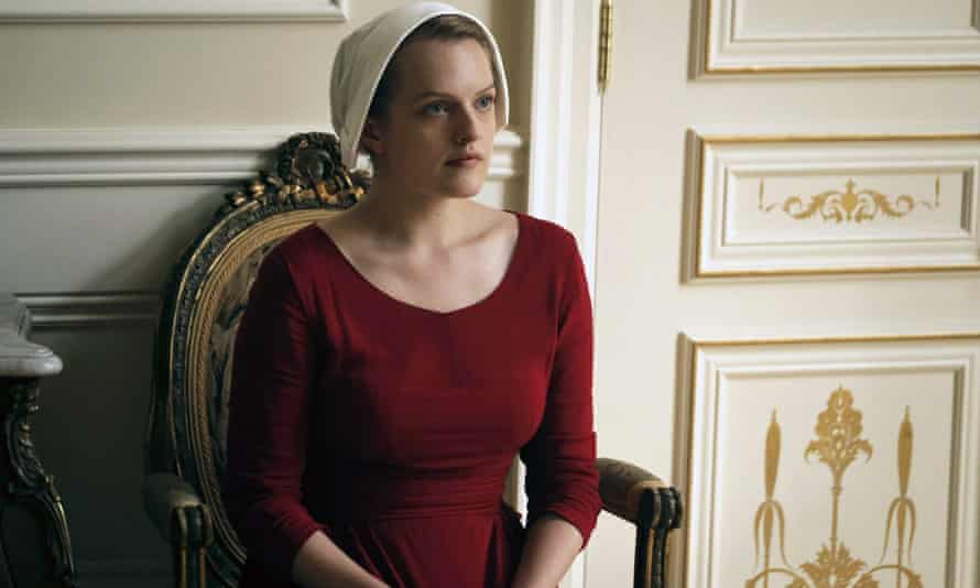 Elisabeth Moss in the TV adaptation of The Handmaid's Tale.