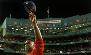 Boston Red Sox slugger David Ortiz says goodbye to Fenway Park.