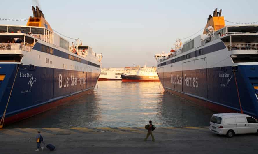 Blue Star ferries in Piraeus.
