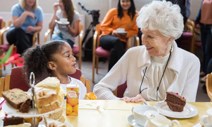 Residents and children's tea party at the Southville centre, Bristol.