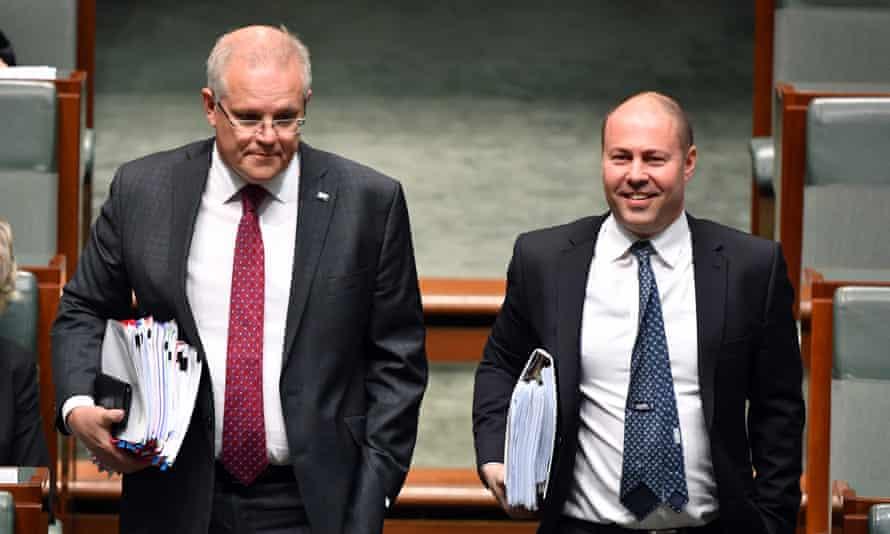 Prime Minister Scott Morrison and Treasurer Josh Frydenberg