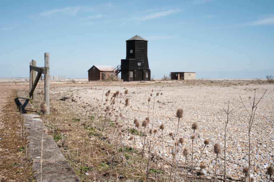 The Black Beacon on Orford Ness, Suffolk, an early radio navigation station, currently home to Library of Sound (2021), containing field recordings by Iain Chambers, Chris Watson and Brian d'Souza.