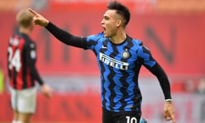 Lautaro Martinez puts Inter in front.