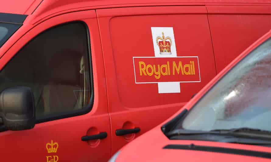 A Royal Mail van.