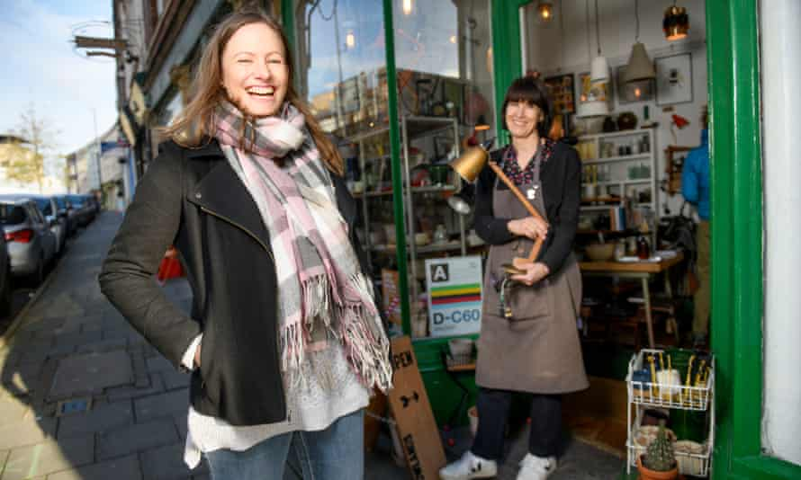 Nathalie Alpi (L) created the Shop Here Not There website to support independent traders in Bristol.
