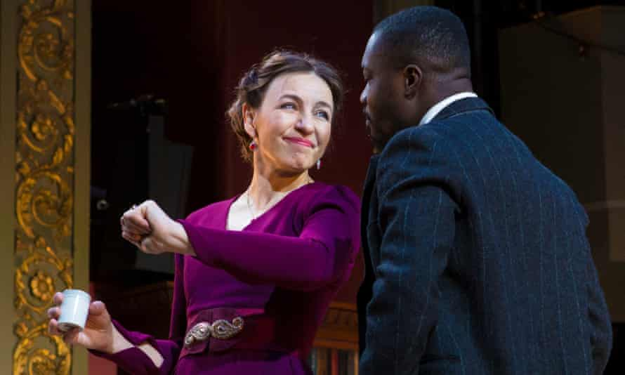 Kirsty Bushell and Jude Owusu in The Cherry Orchard.