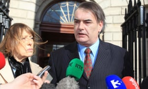 Ian Bailey with his partner Jules Thomas at the high court in Dublin in 2012