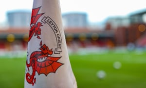 A Leyton Orient flag at their stadium