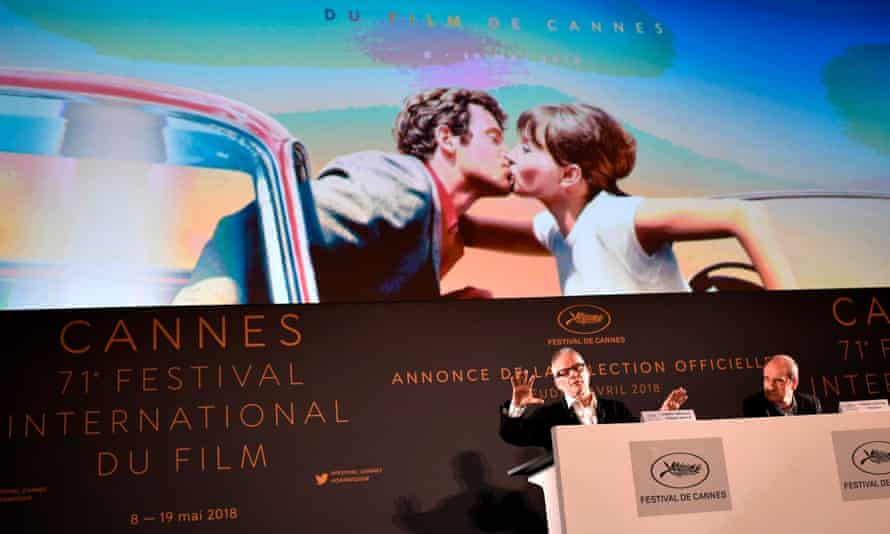 Cannes director Thierry Frémaux and president Pierre Lescure announce the selection