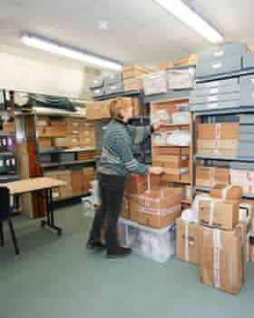 Kate Hale, the curator of the Isles of Scilly Museum, at work