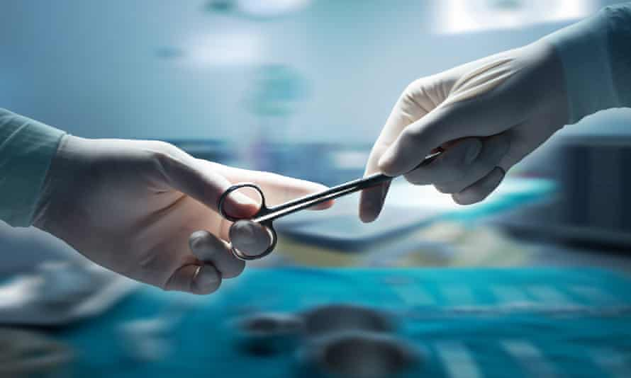 Stock picture in operating theatre.