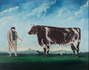 A Farmer and his Prize Heifer, artist unknown, 1844.