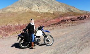 Lois Pryce heads towards the Alborz mountains
