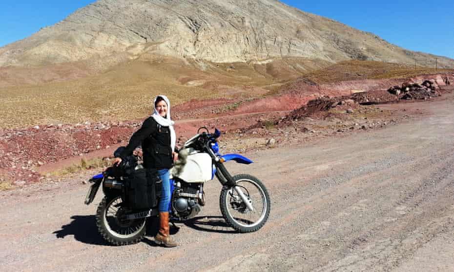 Lois Pryce heads towards the Alborz mountains