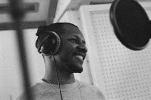 Giggs in the studio during the making of Everything Is Recorded.