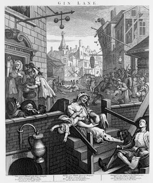 Gin Lane, 1751, William Hogarth.