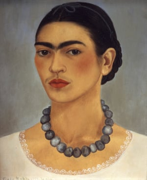 Self-portrait with necklace, by Frida Kahlo, 1933