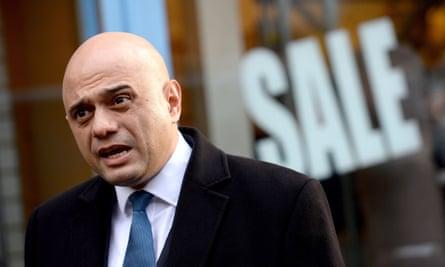 the chancellor, Sajid Javid.