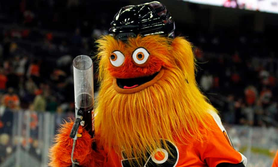 Gritty: 'a nightmarish frat boy who communicates only in bro-friendly gestures'