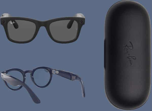 The smart glasses and case