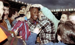 Ugo Ehiogu during his time at Aston Villa, for whom he made more than 200 appearances, helping the Midlands club win the Coca-Cola Cup in 1996