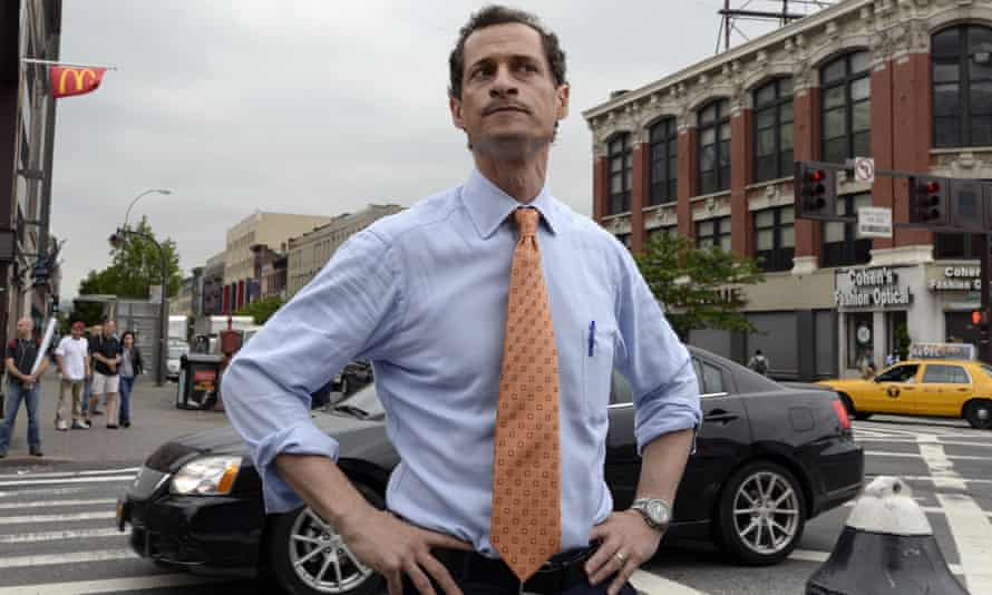 Anthony Weiner campaigning for New York City mayor in Harlem in  2013